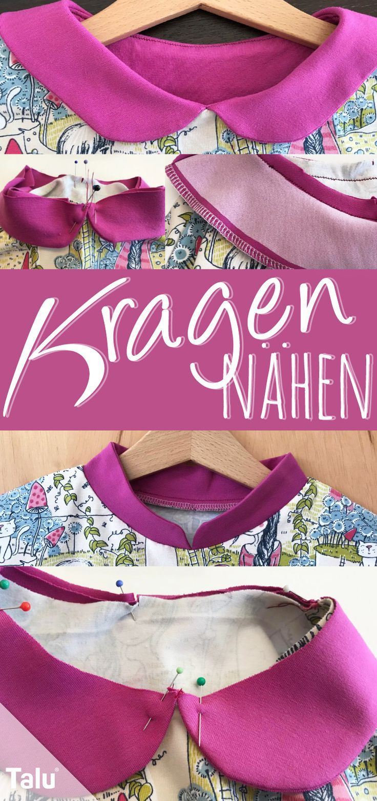 Photo of Sewing a collar – Instructions for baby and stand-up collar – Talu.de