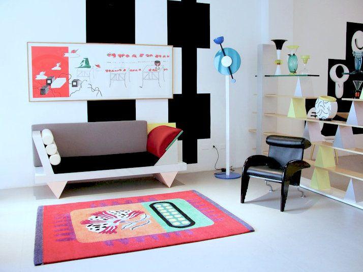 Living Room 1980 memphis-milano-interior (714×535) | studio-plants | pinterest