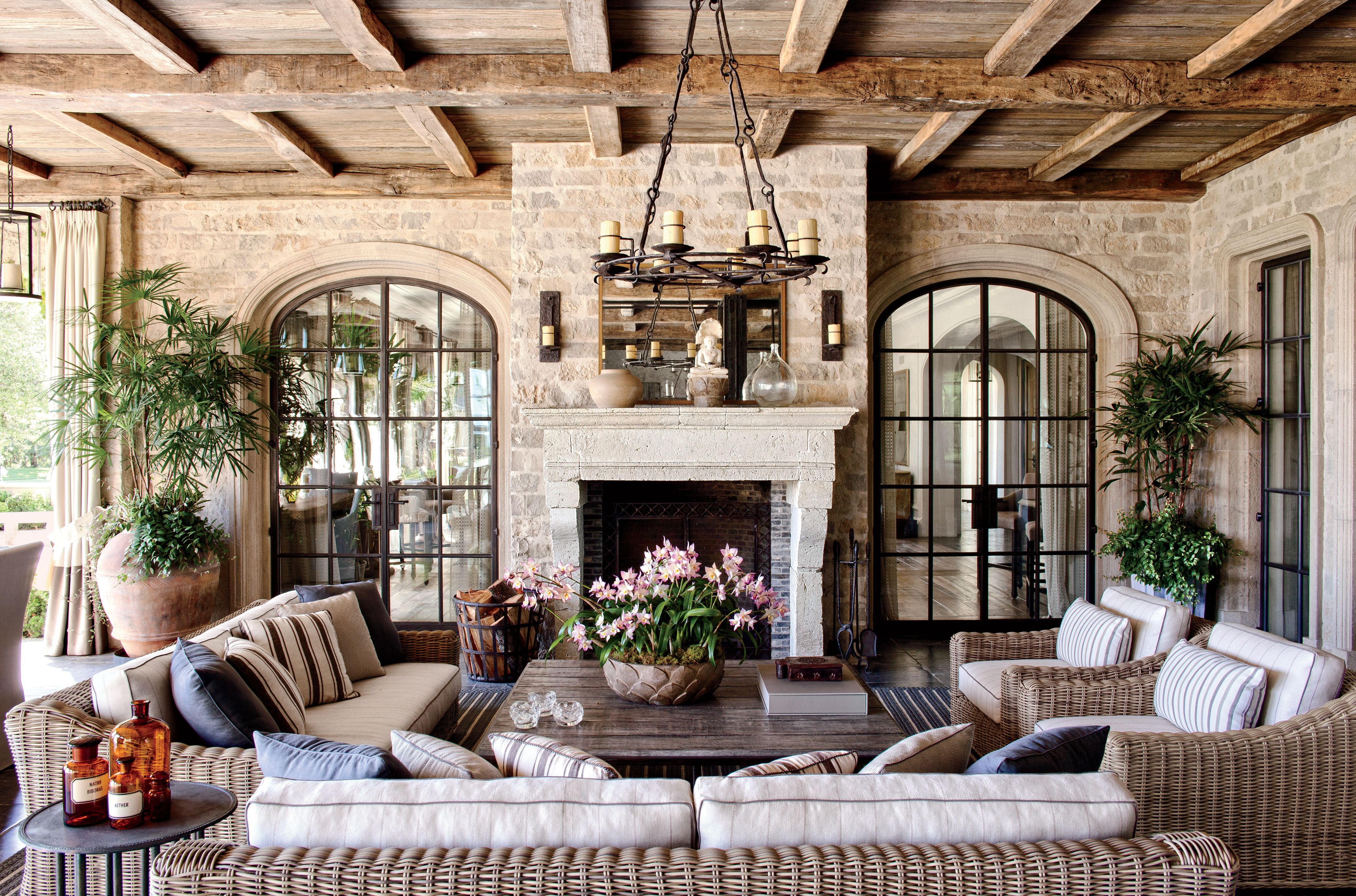 Rustic Outdoor Space by Joan Behnke & Assoc. Inc. and Landry ...