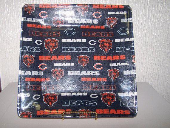 Man Cave Vanity : Bears football. bar tray. man cave decoration. chicago bears. cheese