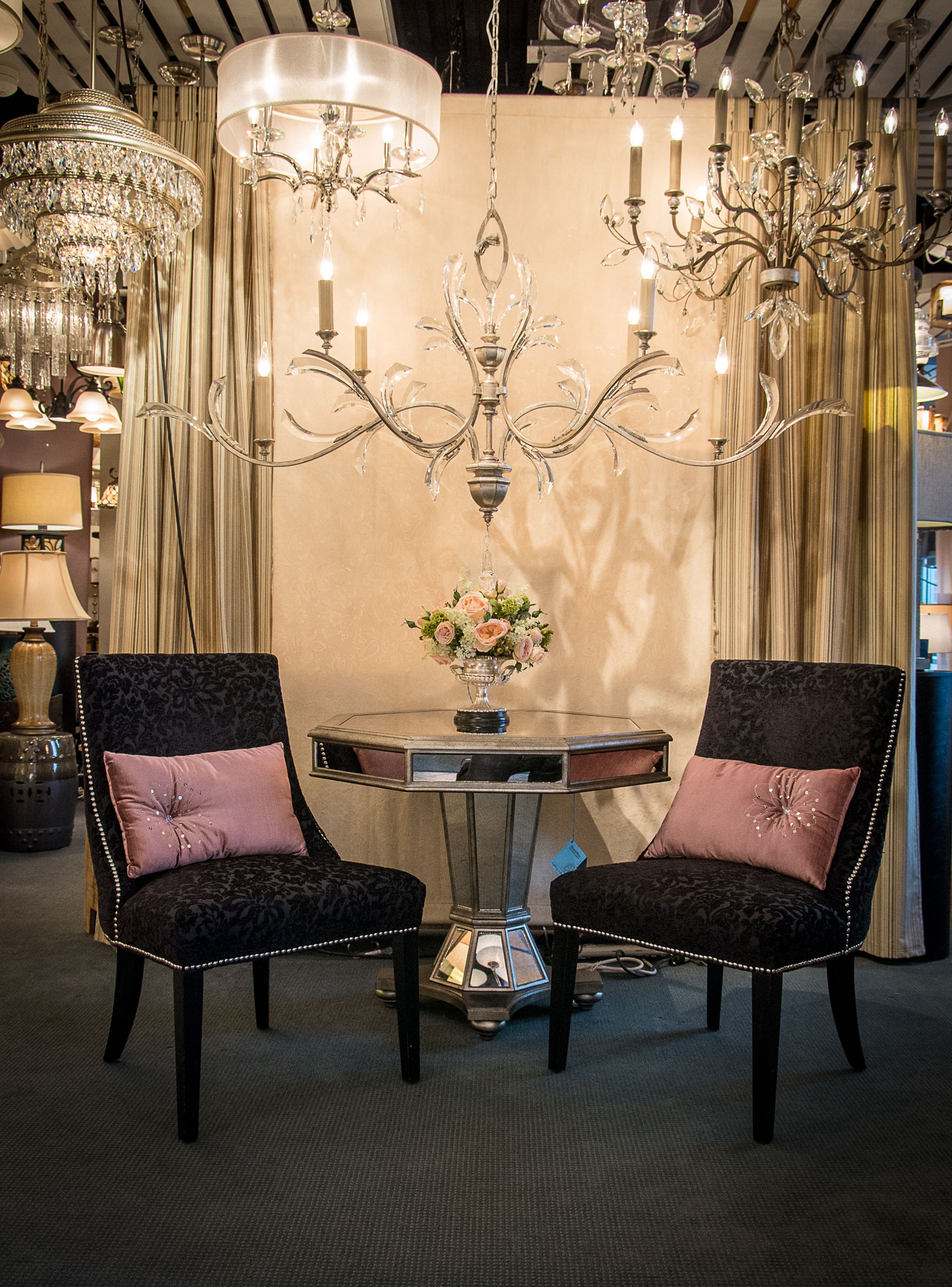 Sophisticated Elegant Display Featuring Fine Art Lamps Beveled Arcs Chandelier In A Beautiful Silver Gild Finish Ame Fine Art Lamps Interior Corbett Lighting Fine art lamps chandelier