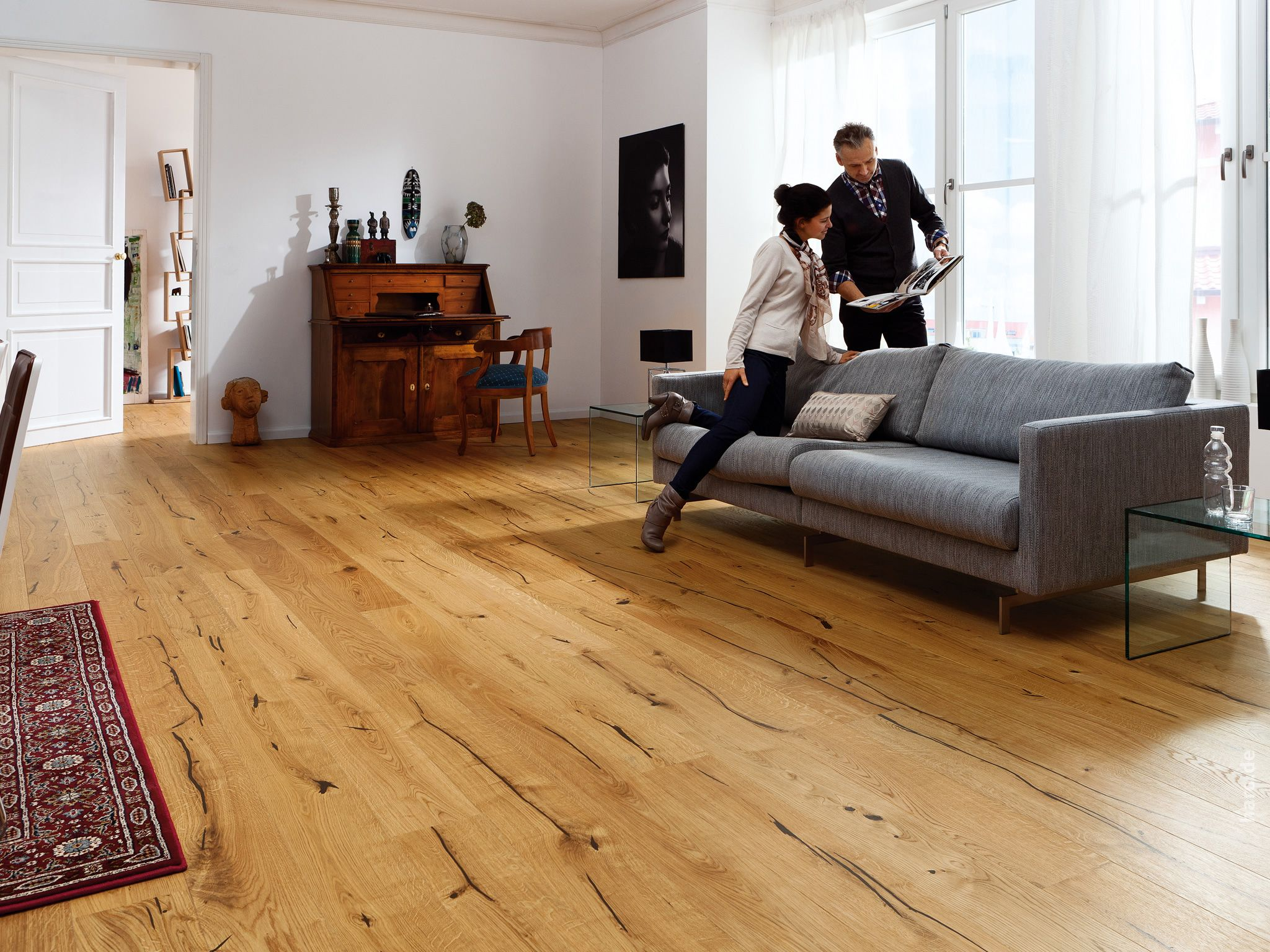 haro parquet 4000 plank 1 strip 4v oak alabama brushed naturalin plus top connect living room. Black Bedroom Furniture Sets. Home Design Ideas