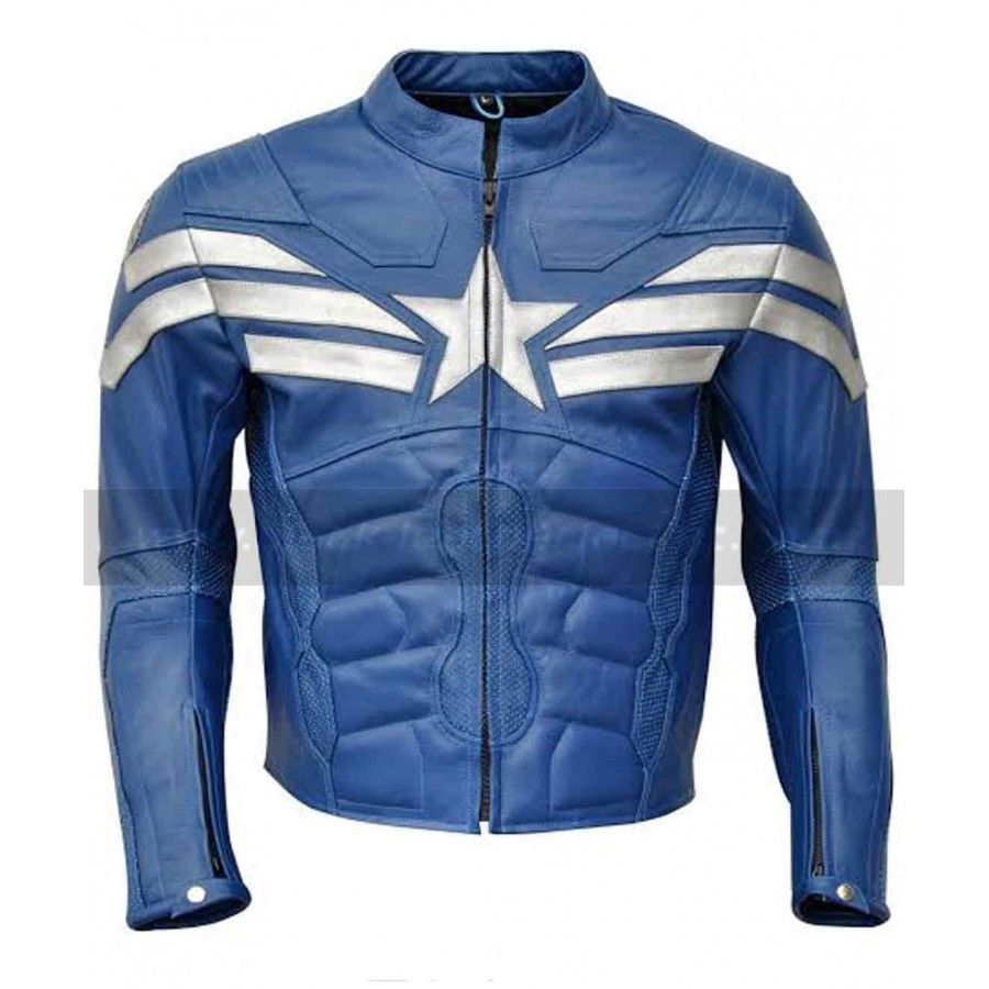 Pin By Mark Tilley On Http Www Bonanza Com Booths Leather Jacket Men Blue Leather Jacket Striped Leather Jacket [ 900 x 900 Pixel ]
