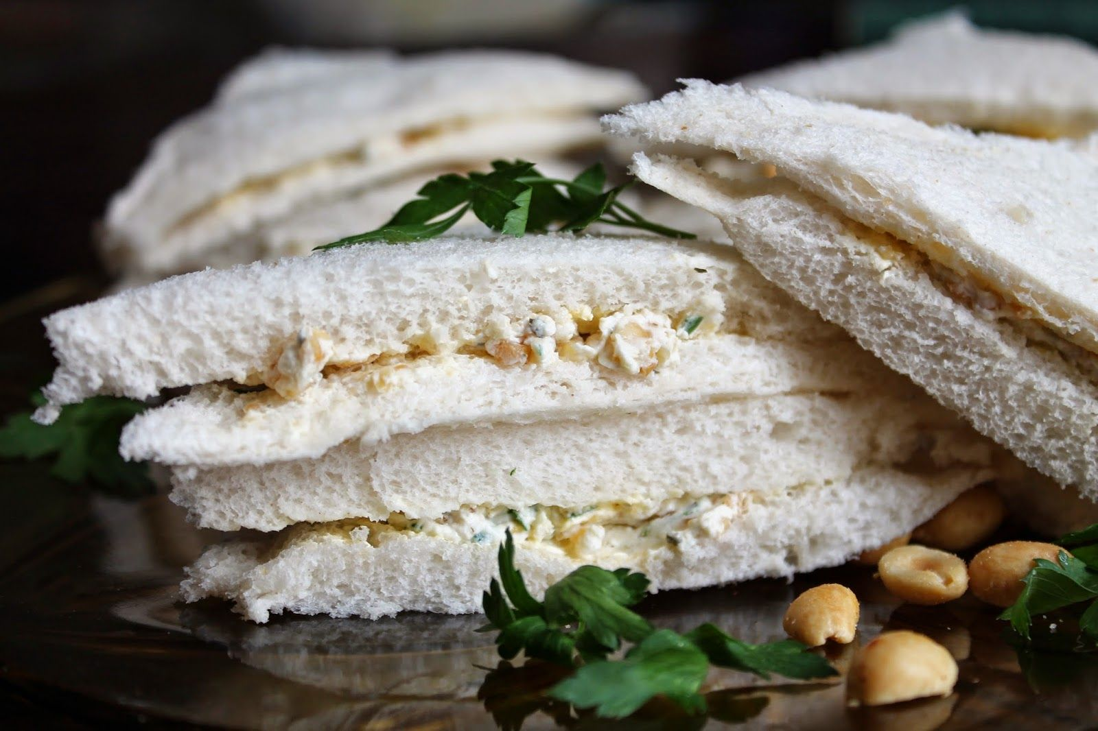 Ginger Rogers' peanut parsley sandwiches