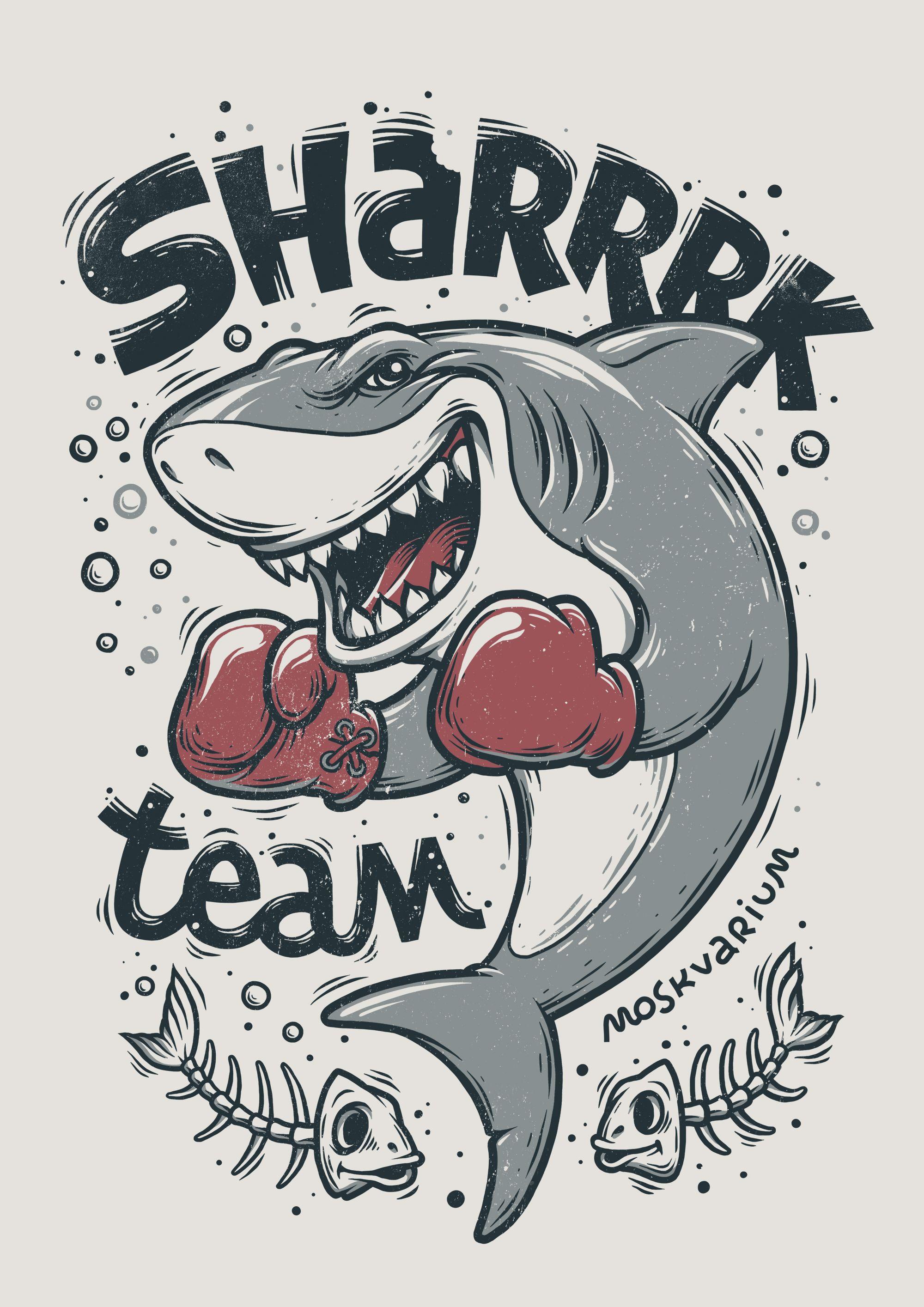 Design muse shark week -  Shark Illustration Making Of