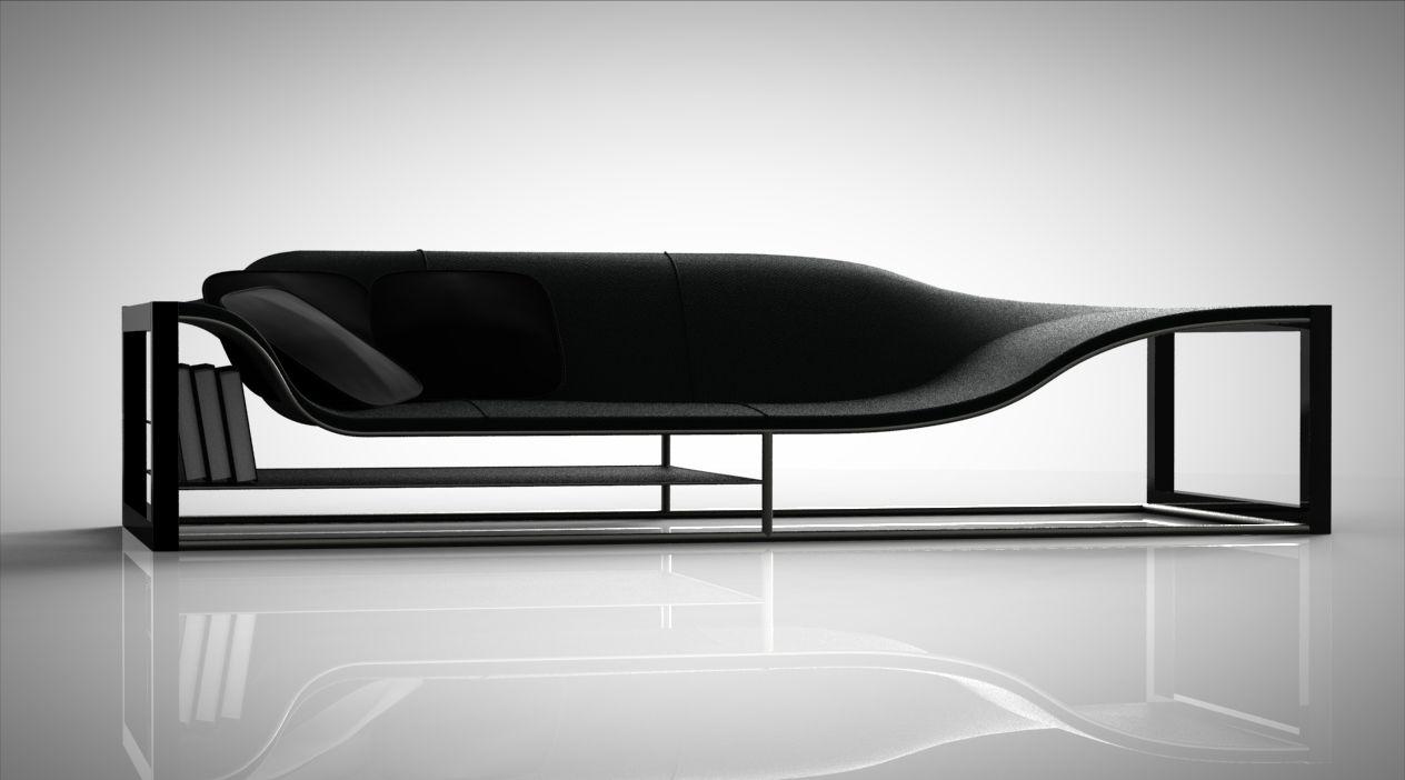 Designed By Emanuele Canova Modern Black Seating