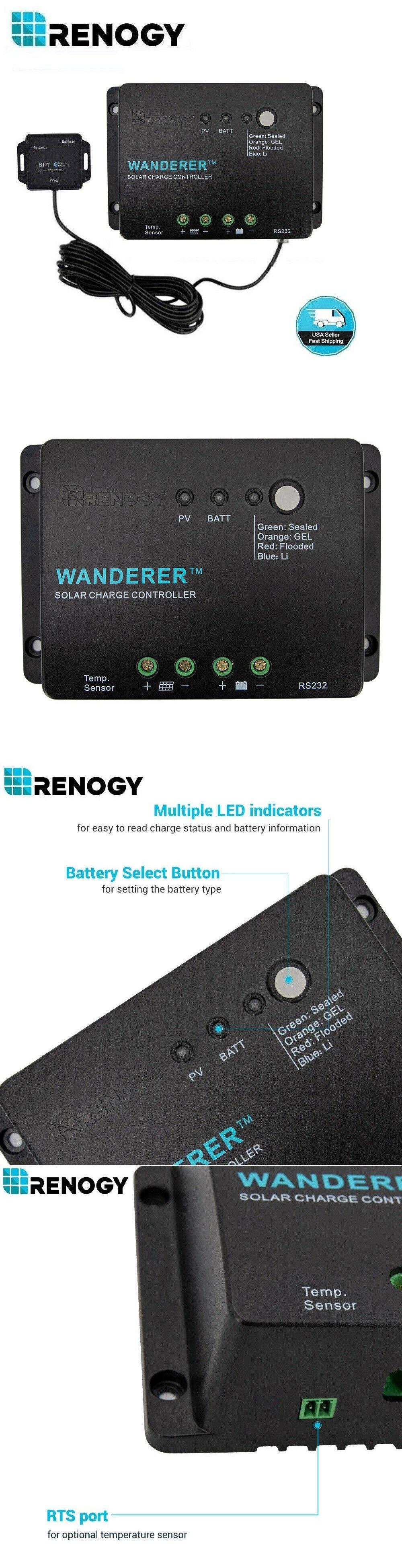 Details About Renogy Wanderer Li 30a Pwm Charge Controller 12v Negative Ground Solar Regulator Solar Panel Battery Solar Ebay