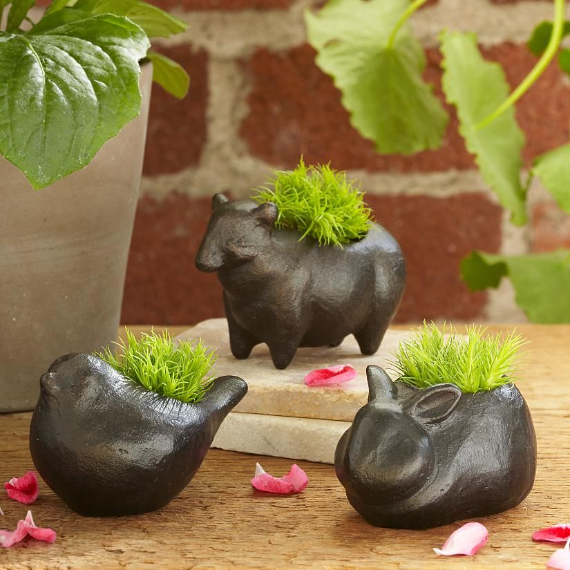 animal garden sculptures + moss set from RedEnvelope.com