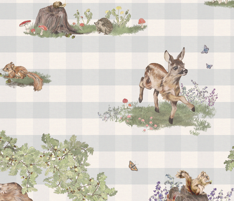 Woodland Toile Fabric By Marthabowyer On Spoonflower