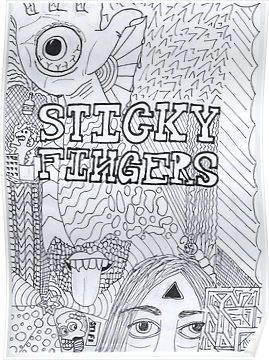 Custom Silk Poster Wall Decor Sticky Fingers