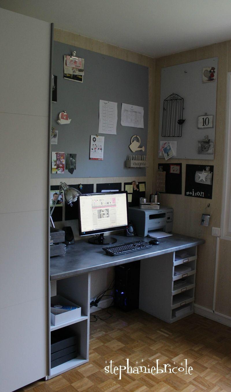 Fabriquer soi m me un bureau en bois couture ameublement - Fabriquer son bureau sur mesure ...