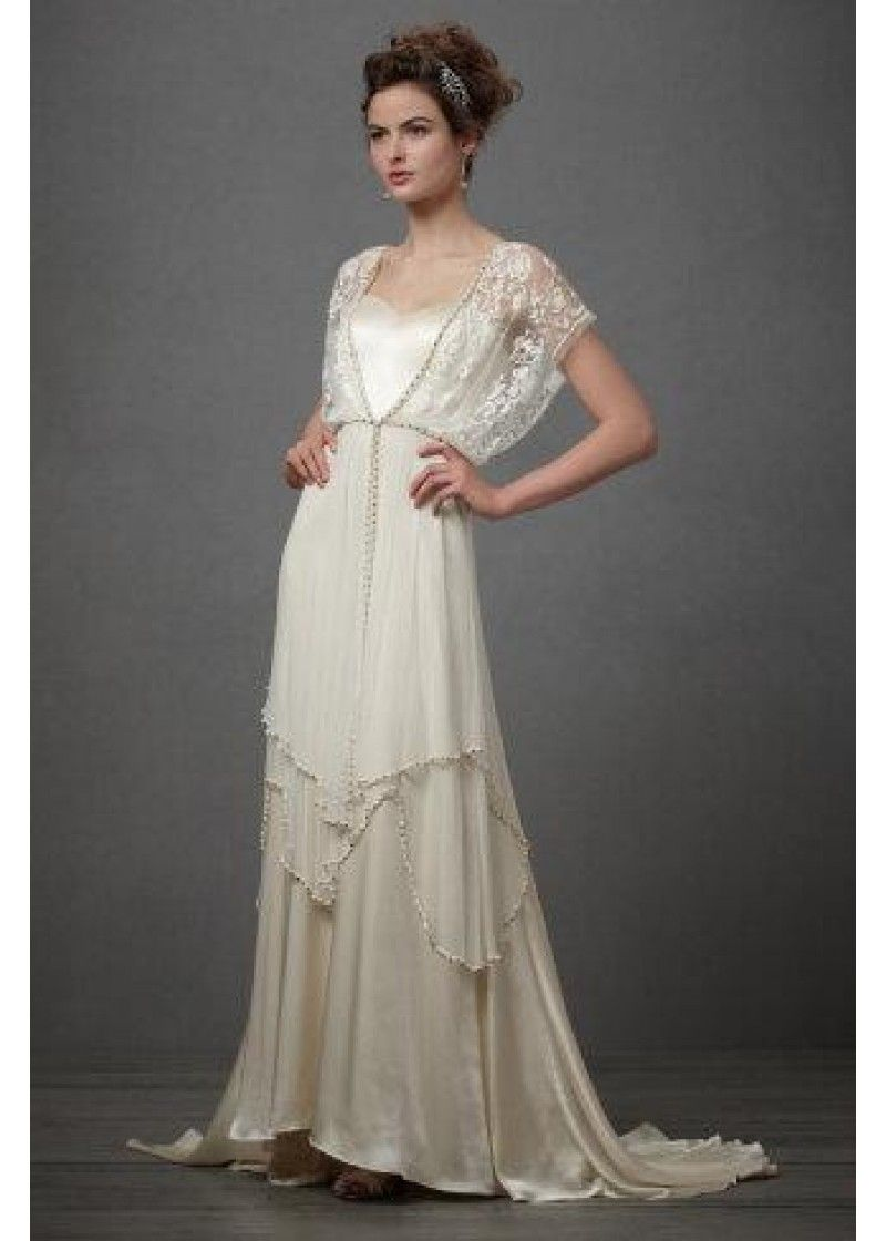 Uk vintage style 1920s wedding dress bridal wear gown Charlotte made ...