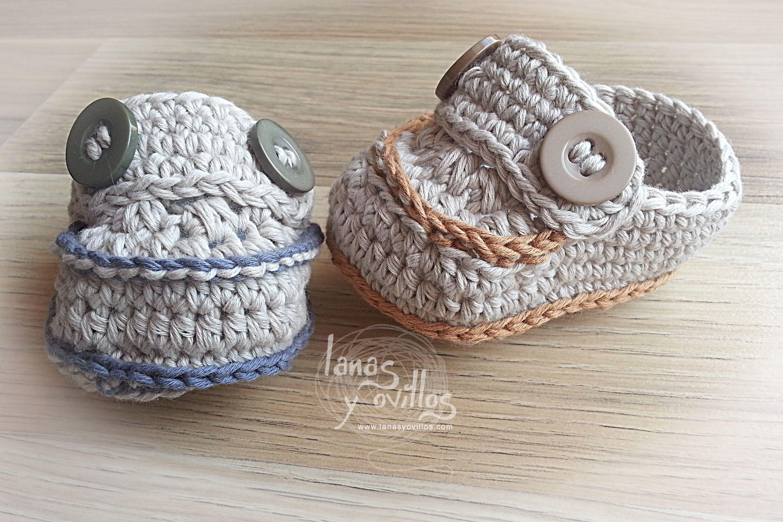 Mocasín Bebé a Crochet   Mocasines, Bebé y Ganchillo