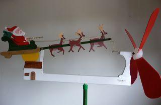 Cataventomania: Papai Noel com três renas, com dois movimentos:   ...
