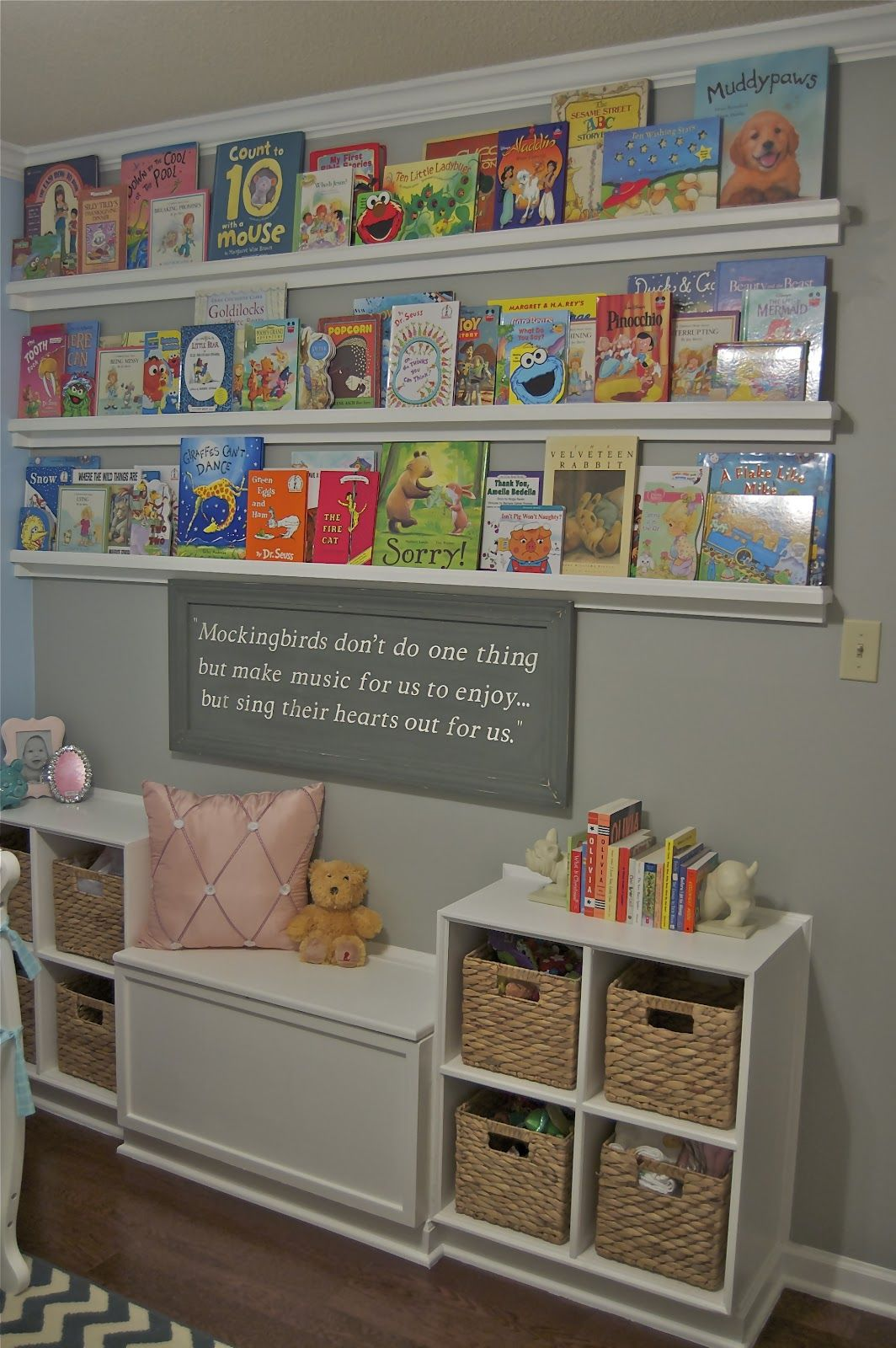 the picket fence projects baby's book nook  baby boy  - we finally finished hadley's bookthemed nursery (a gal and her dog)
