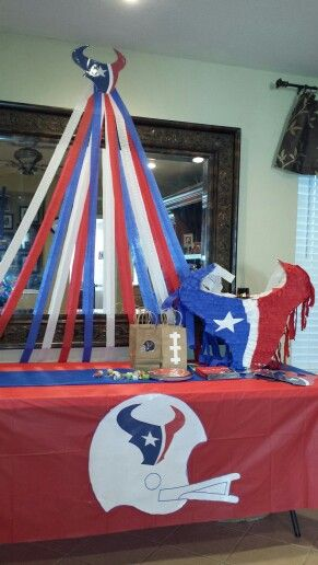 Diy Houston Texans Party Football Birthday 50th