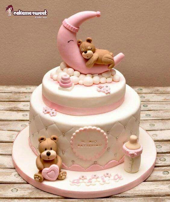 Barchen Im Mond Baby Kuchen Torte Zur Geburt Kindertorte