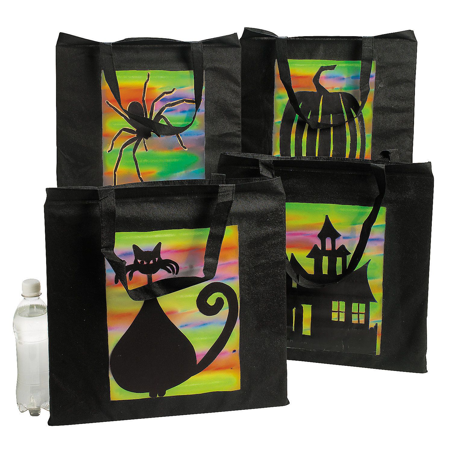 Spooky Silhouette Tote Bags (With