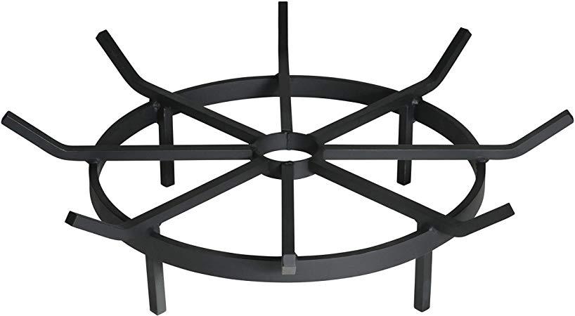 SteelFreak Wagon Wheel Firewood Grate for