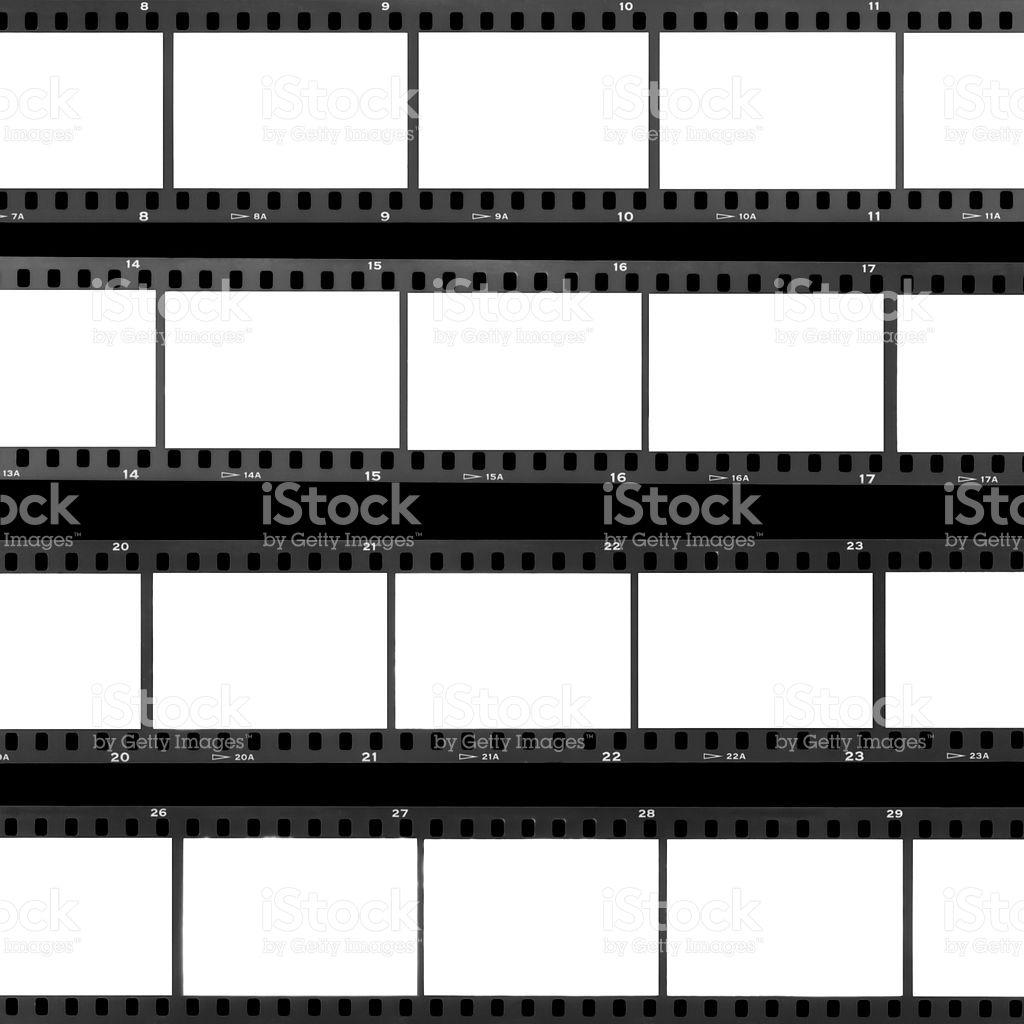 Blank Film Frames Overexposed Contact Sheet Analog Filmstrip