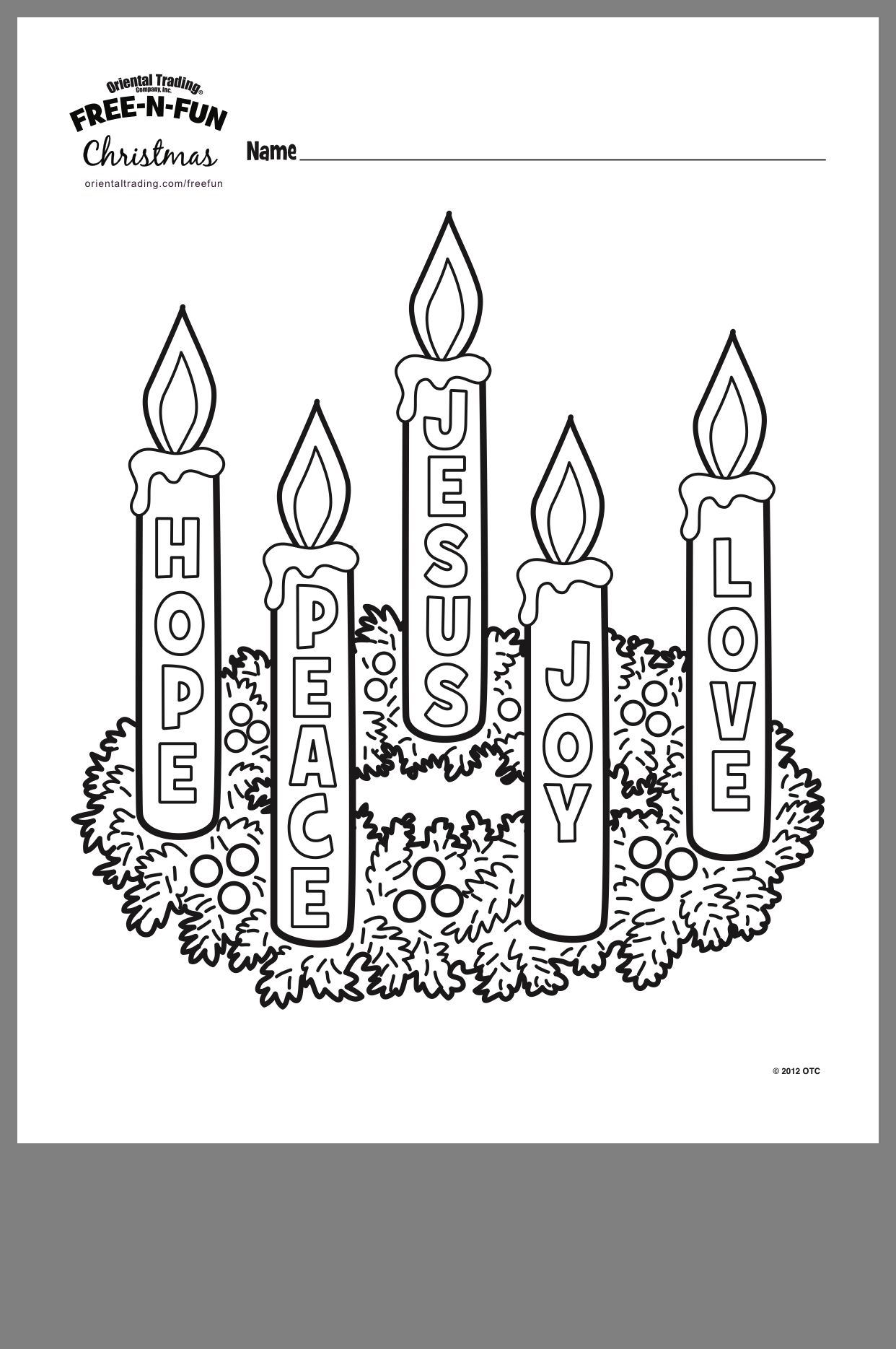 Color One Candle Purple Advent Coloring Sunday School Coloring Pages Advent Wreath