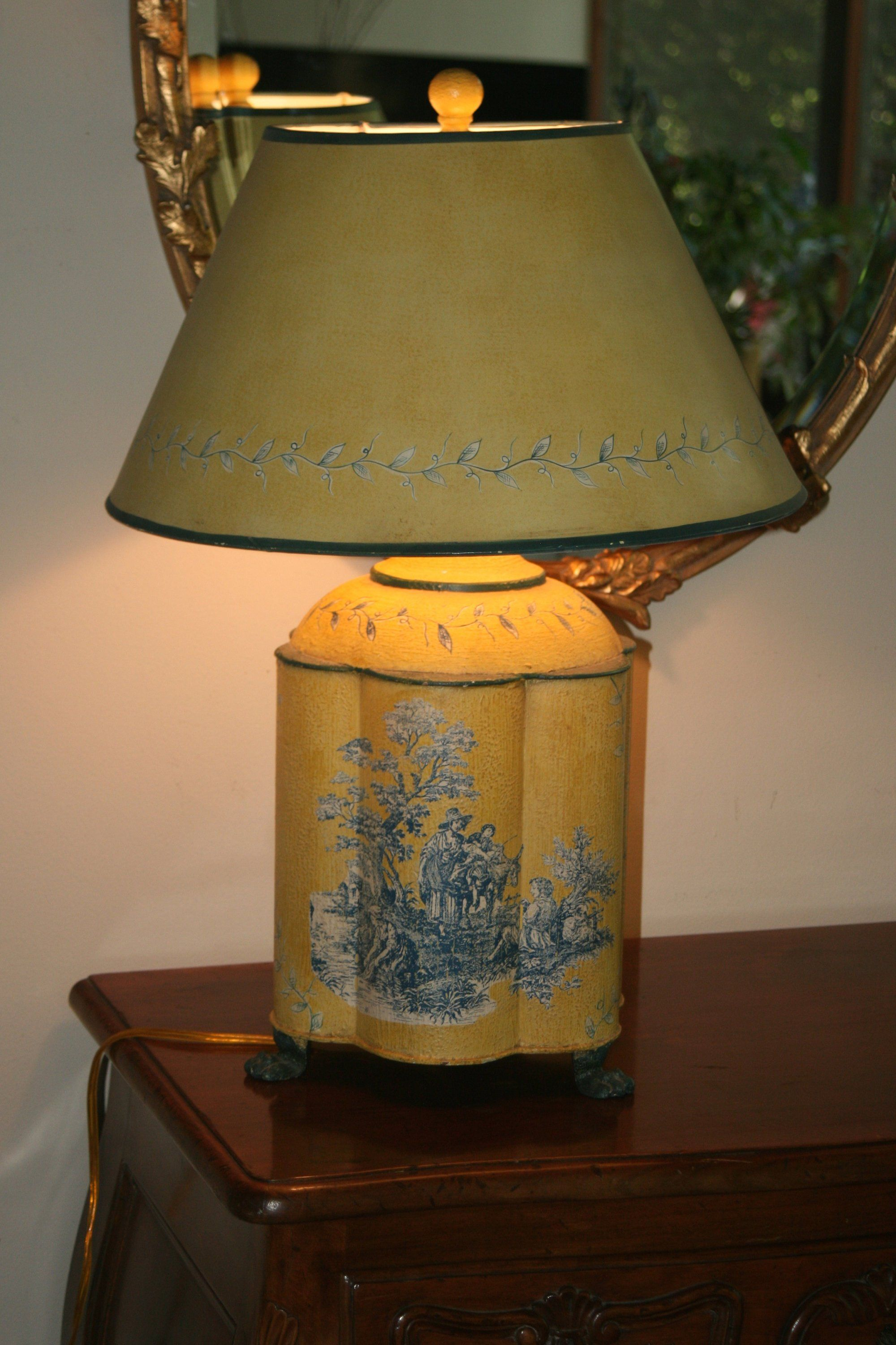Portable Luminaire Footed Tin Table Lamp In 2018 Home Decor