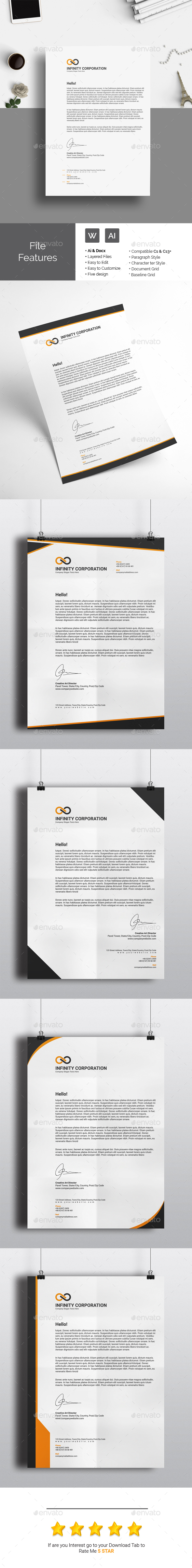 Ai 5 in 1 letterhead template only available here http ai 5 in 1 letterhead template only available here httpgraphicriver spiritdancerdesigns Choice Image