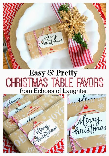 Echoes of Laughter: Pretty Little Christmas Table Favors or Gifts - Pretty Christmas Table Favors Or Gifts Holiday Ideas Christmas