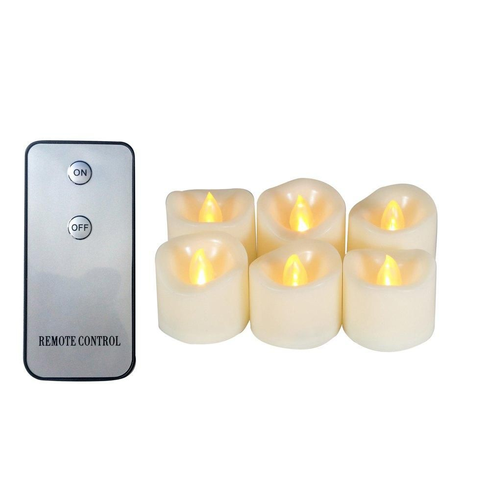 Flameless Votive Candles Bfcm #cybermonday #rosegal  #rosewholesale Set Of 6Pcs Realistic