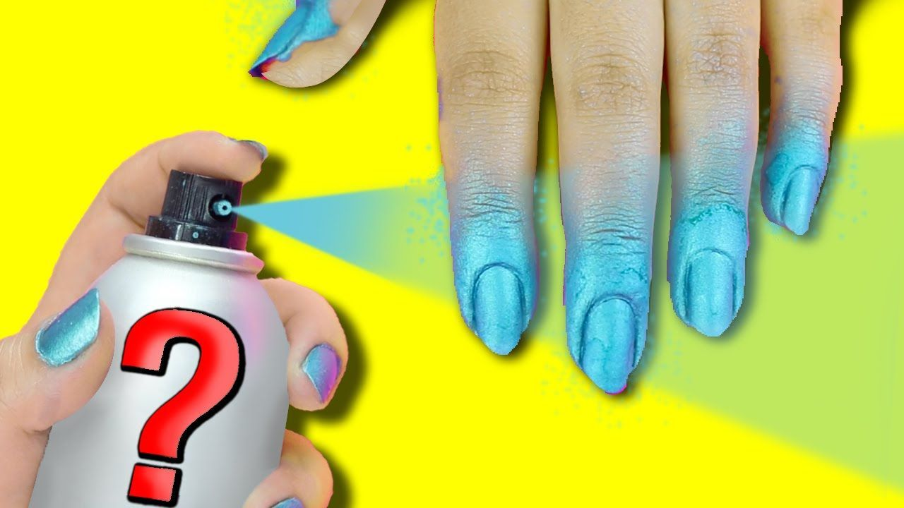 NAIL HACK DIY SPRAY AUF NAGELLACK  5 DUPE
