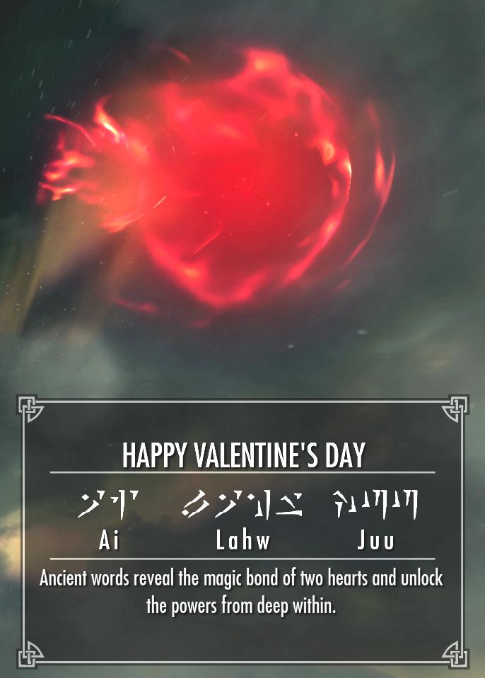 valentine card skyrim sweetroll - Google Search