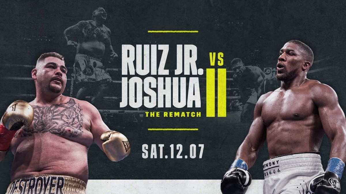 Anthony Joshua Vs Andy Ruiz Rematch Status Confirmed Anthony Joshua Anthony Joshua Vs Ruiz