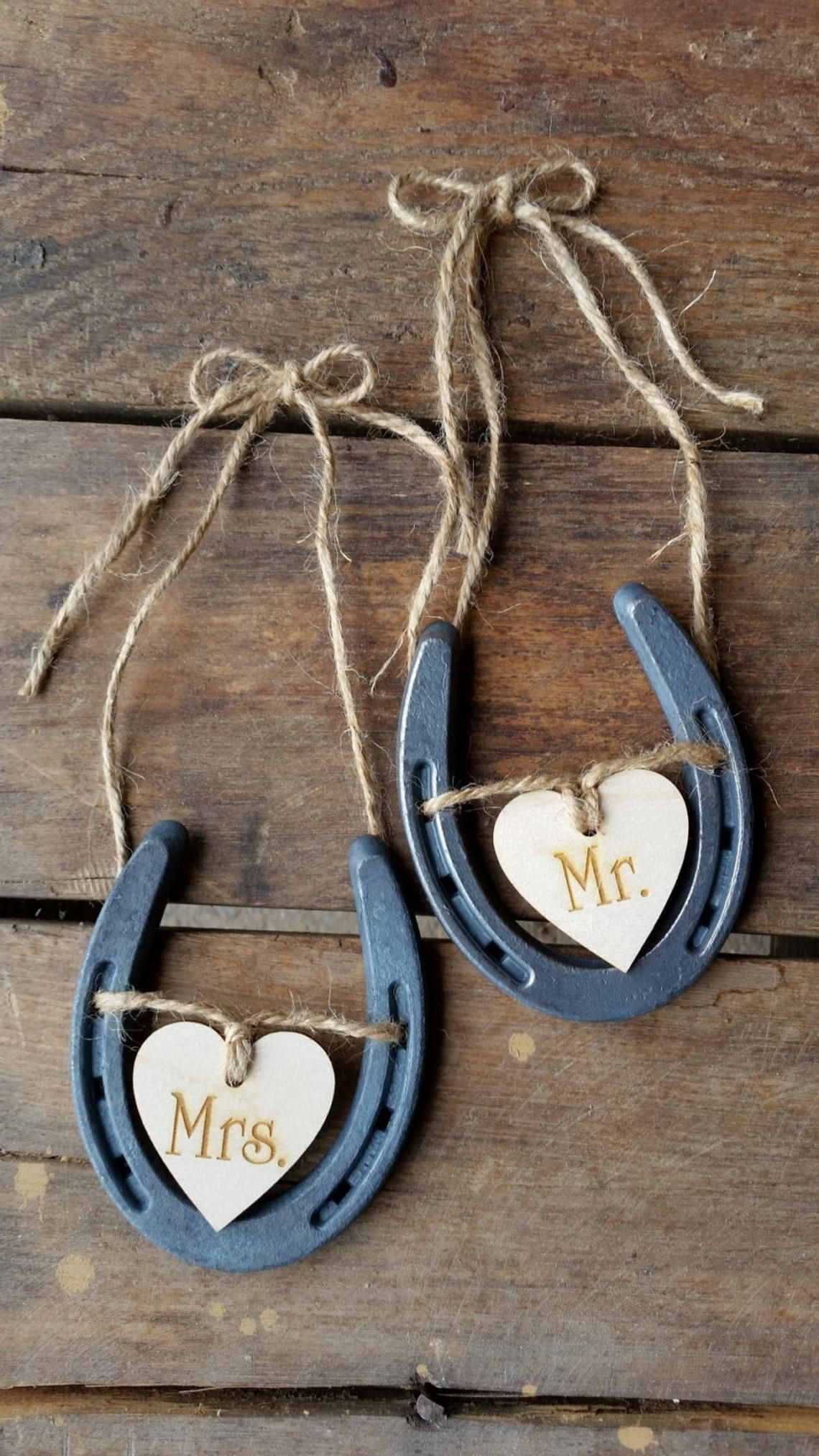 Wedding Chair Signs Horseshoe Wedding Decor Mr And Mrs Signs