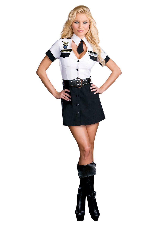 fe9a1ad9728 Sexy Pilot Costume Womens Plane Captain Costume Adult Theatre ...