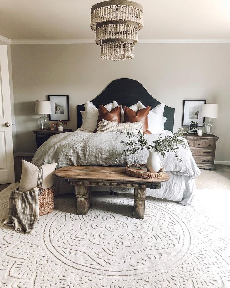 60 dreamy master bedroom ideas and designs that go beyond the basic 13 #modernfarmhousebedroom