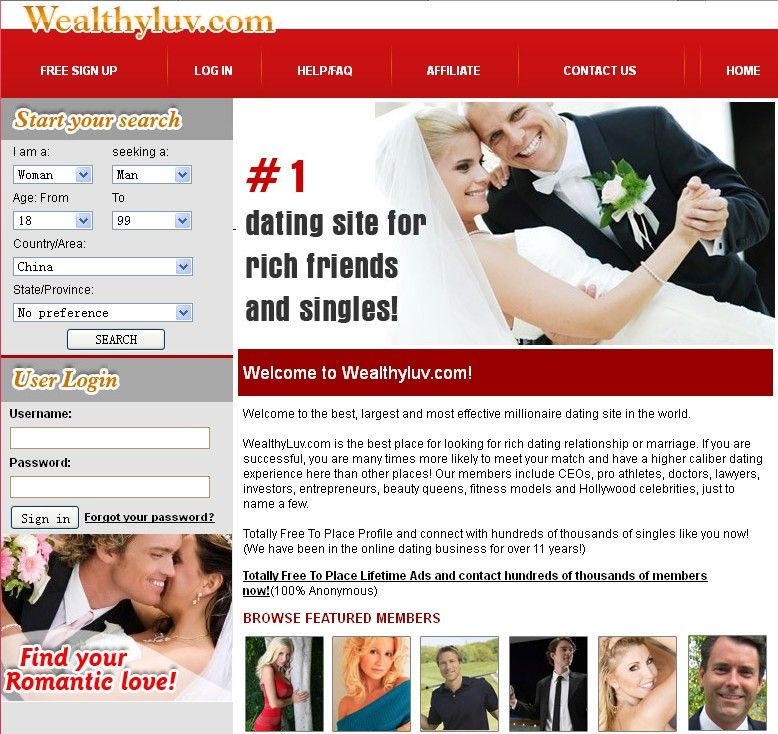 Rich people dating website
