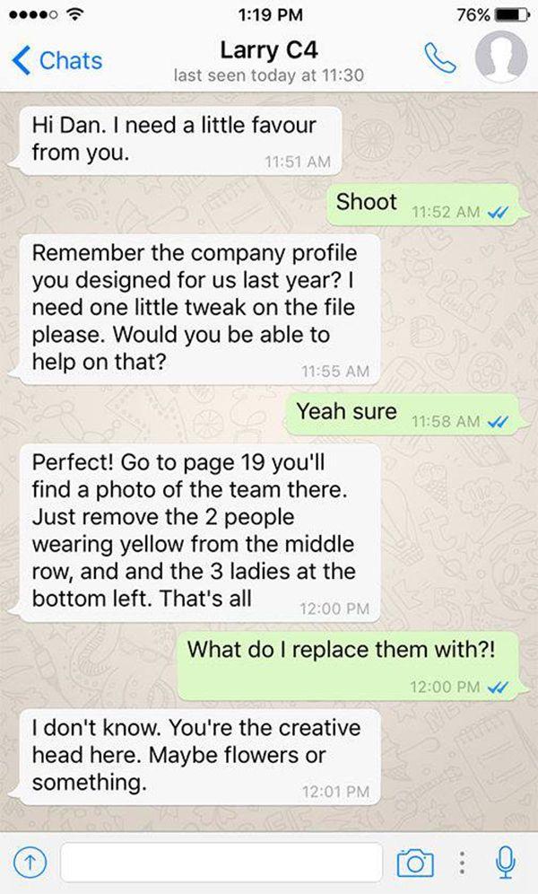 Hilarious WhatsApp Conversations Poke Fun At The Client ...