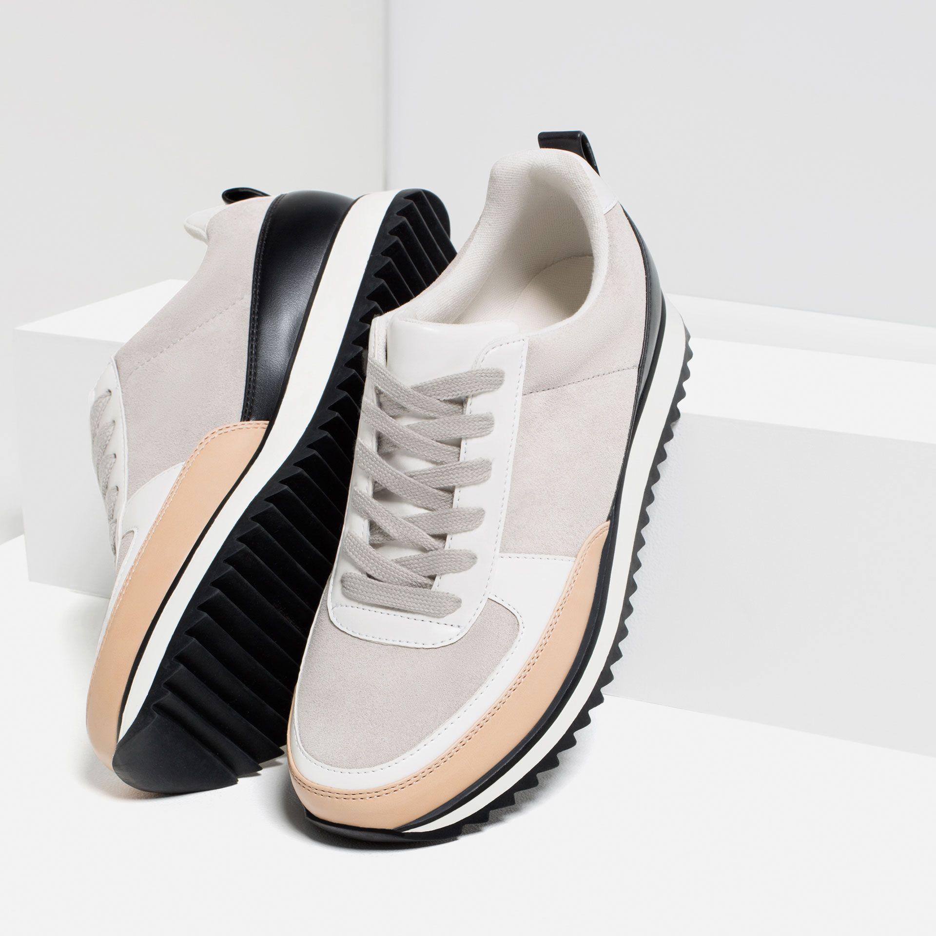hot sale online 822ca 8c4d7 Tenis Zara Zapatillas Zara, Zapatos De Moda, Botas, Zapatos Deportivos Mujer,  Zapatillas