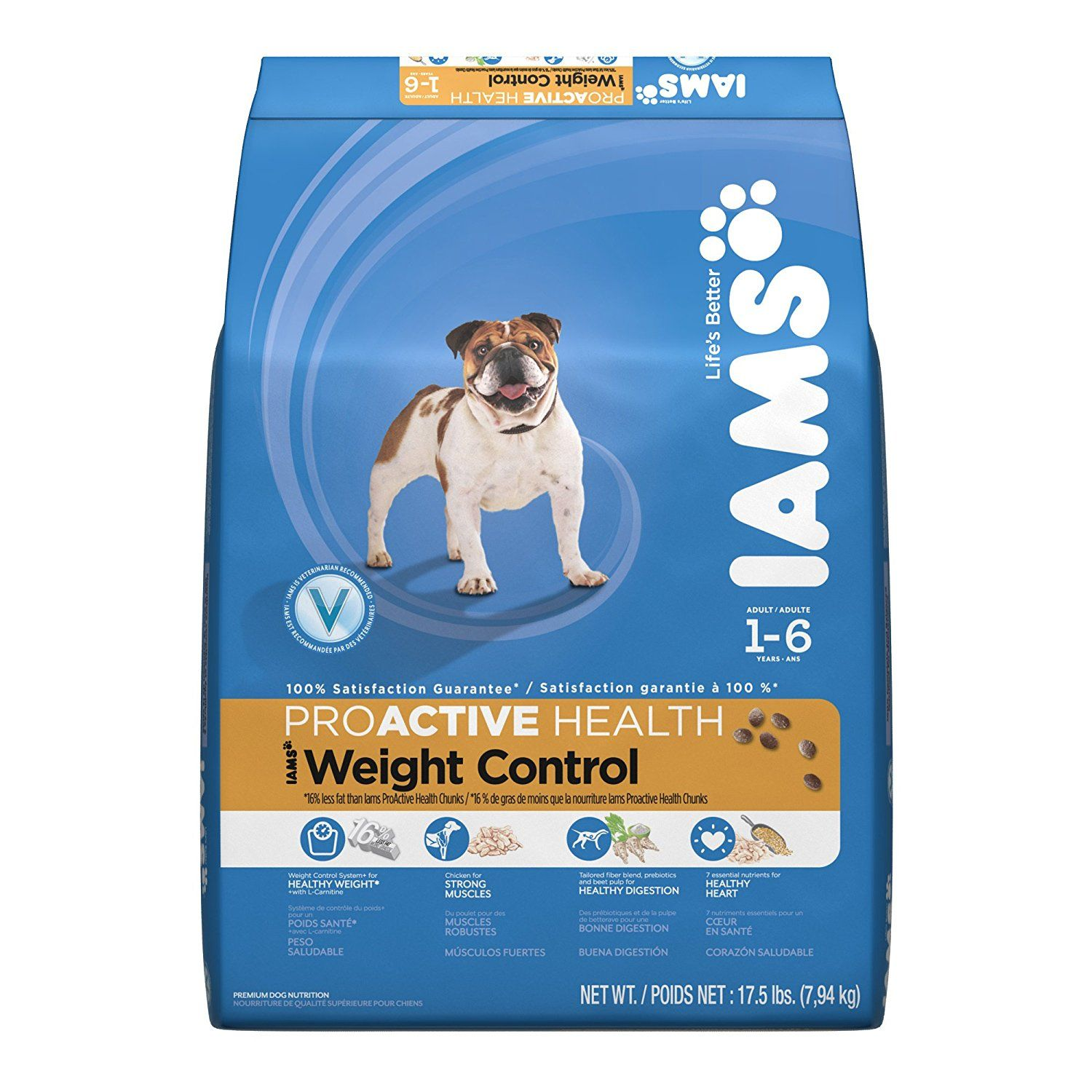 Iams Proactive Health Weight Control For Adult Dog 17 5 Pound