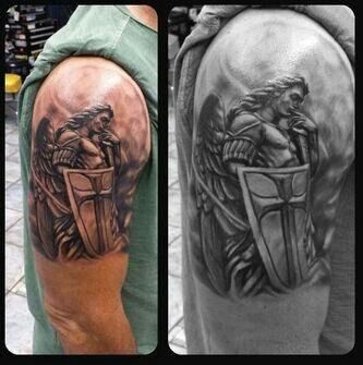 The Protector Small Irish Tattoos Archangel Tattoo Irish Tattoos