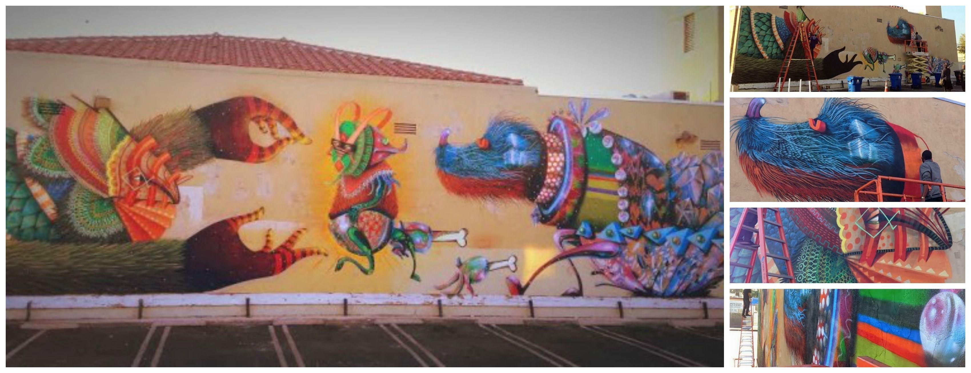 Edgar Saner In Bentonville Arkansas USA SANER - Artist paints incredible seaside murals balanced on surfboard