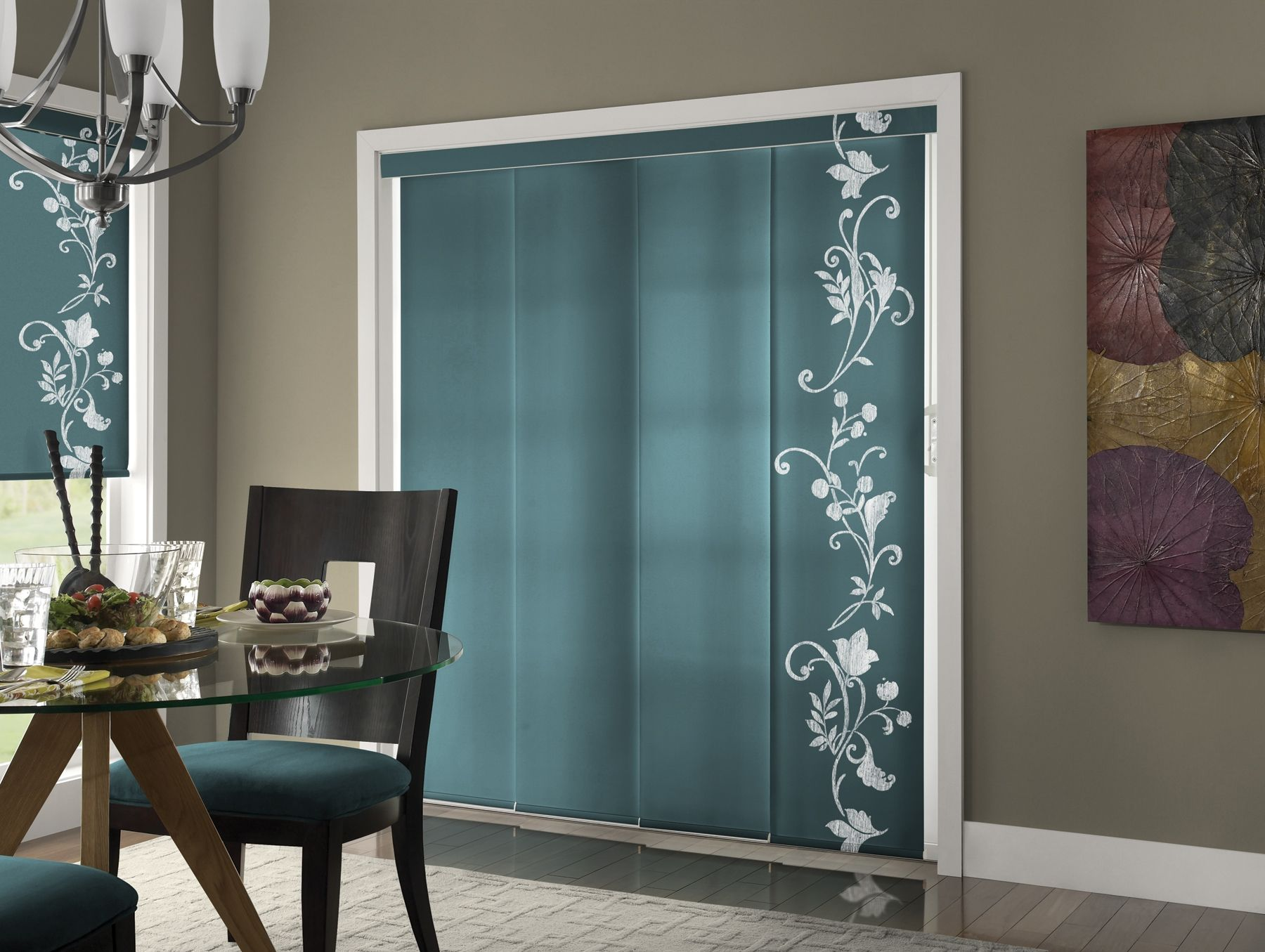Sliding Glass Door Panel Track Blinds Home Windows Dressing