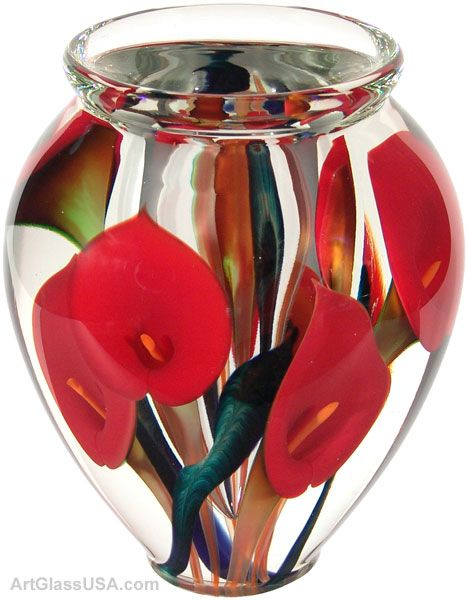 Calla Lily Vase Red By Scott Bayless The Appreciation Of Glass