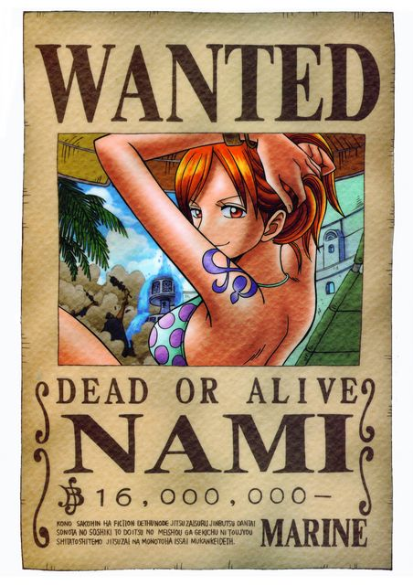 Pin By Sophie On Awesome Cartoon One Piece One Piece Nami One Piece Poster One Piece Bounties Anime wallpaper one piece wanted