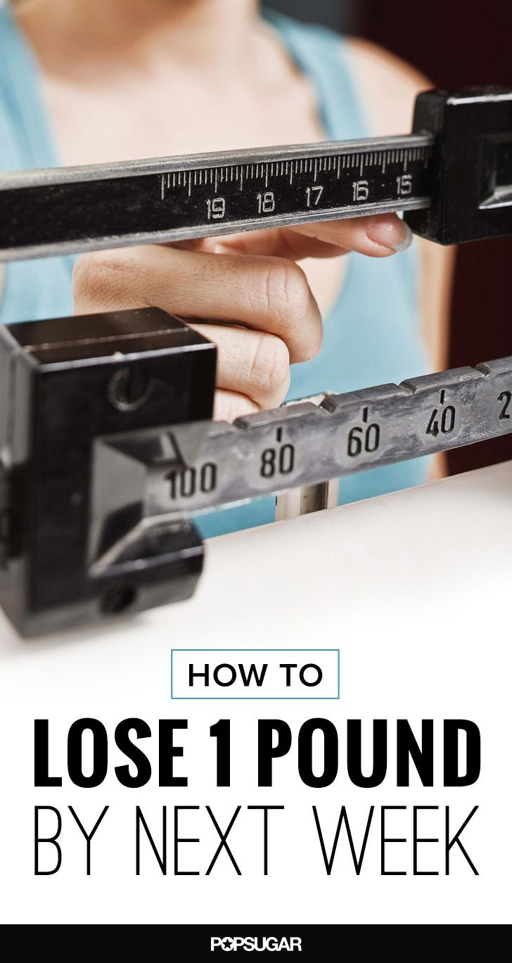 Weight loss is a slow and steady race. This realistic schedule will help  you lose one pound per week.