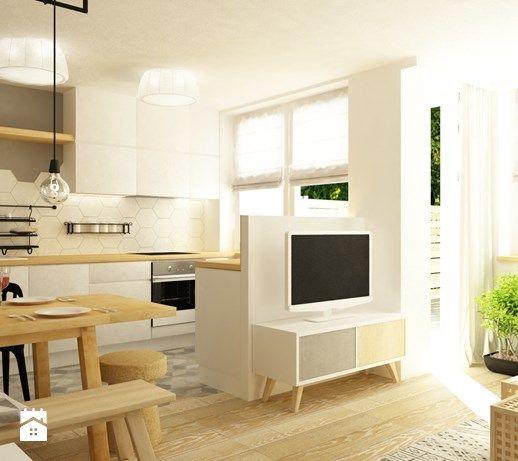 Mieszkanie 60m2 W Bieli,drewnie I Szarości W Stylu New