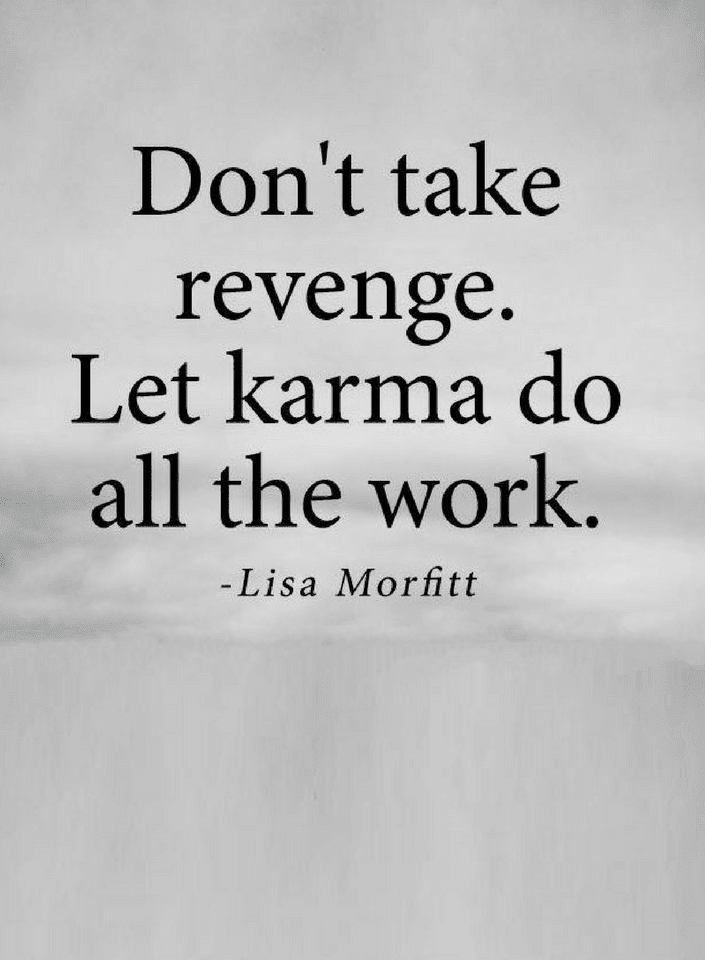 Quotes If you plan to take revenge you'll waste time and energy, but if you leave it to karma you'll get - Quotes