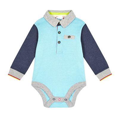 f72af2d3e Baker by Ted Baker Baby boys  blue polo body suit- at Debenhams.com ...