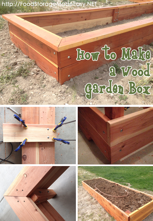How To Build A Wood Garden Box Food Storage Made Easy Garden Boxes Garden In The Woods Redwood Garden Boxes