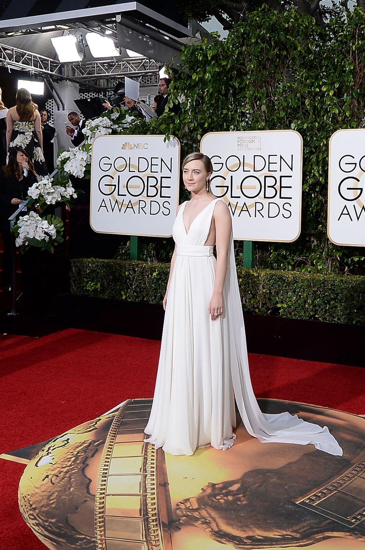 SAOIRSE RONAN at 73rd Annual Golden Globe Awards in Beverly Hills 10/01/2016